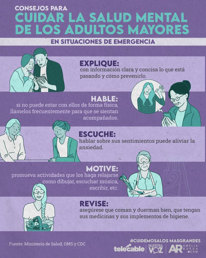 como cuidar la salud mental del adulto mayor